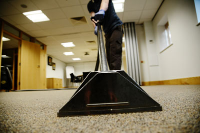image of carpet cleaning in office by Window Cleaning Plus