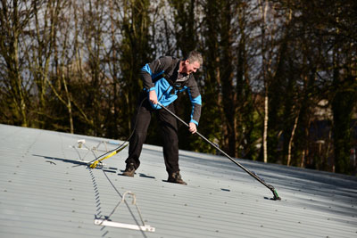 image of roof cleaning by Window Cleaning Plus