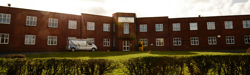 image of Cochran offices with Window Cleaning Plus van